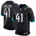 Josh Allen Jacksonville jaguars Nike 2019 NFL Draft première ronde Pick maillot de jeu – noir