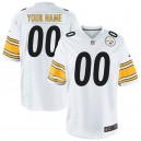 Nike hommes Pittsburgh Steelers personnalisé jeu maillot blanc