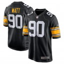 Pittsburgh Steelers hommes T.J. Watt Nike black maillot de jeu alternatif