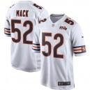 Hommes Chicago Bears Khalil Mack Nike blanc 100e maillot de jeu saison