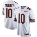 Hommes Chicago Bears Mitchell Trubisky Nike blanc 100e maillot de jeu saison