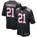 Hommes Atlanta Falcons Deion Sanders Nike noir retraité joueur maillot de jeu