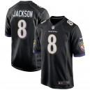 Baltimore Ravens Lamar Jackson Nike maillot de jeu noir pour homme