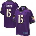 Ravens de Baltimore Hommes Marquise Brown NFL Pro Line Purple Player Maillots