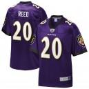 Ravens de Baltimore Hommes Ed Reed NFL Pro Line Purple Joueur à la retraite Réplique Maillot