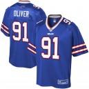 Bills de Buffalo Hommes Ed Oliver NFL Pro Line Royal Player Maillots