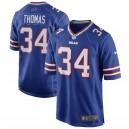 Hommes Buffalo Bills Thurman Thomas Nike Royal Blue Retraité Player Maillots