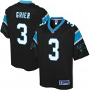 Hommes Carolina Panthers Will Grier NFL Pro Line Noir Player Maillots