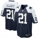 Cowboys de Dallas Ezekiel Elliott Nike Navy Maillots de jeu alternatifs