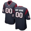 Maillot de jeu personnalisé Nike Navy Des Texans de Houston