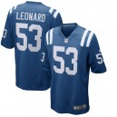 Maillot Nike Royal Player de jeu Darius Leonard Colts d'Indianapolis pour hommes