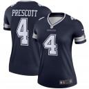 Cowboys de Dallas Femmes Dak Prescott Nike Navy Legend Maillot