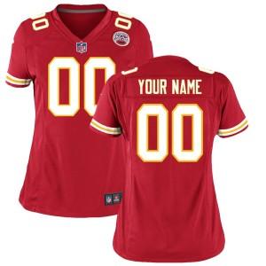 Maillot de match personnalisé Nike Rouge Kansas City Chiefs pour Femme