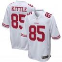 George Kittle San Francisco 49ers Nike Jeu Maillot - Blanc