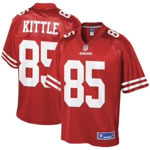 Maillot de joueur d'équipe Pro Line 49FL George Kittle San Francisco - Scarlet