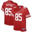 Maillot joueur de football féminin 49 KFL NFL Pro Line - George Kittle - Scarlet