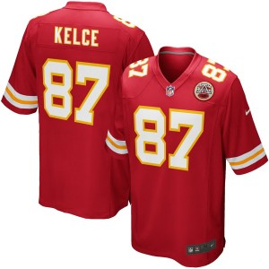Hommes Kansas City Chiefs Travis Kelce Nike Rouge équipe Jeu Maillot