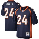 Hommes Denver Broncos Champ Bailey Mitchell - Ness Navy héritage réplique Maillot
