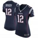 Tom Brady Maillot de match Nike pour Femme New England Patriots pour Femme - Bleu marine