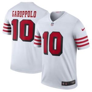 Jimmy Garoppolo San Francisco 49ers Nike Color Rush Légende Joueur Maillot - Blanc