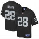 Josh Jacobs Oakland Raiders NFL Pro Line Enfants Team Joueur Maillot - Noir