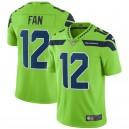 Seattle Seahawks 12s Nike Vapor Intouchable Color Rush Limited Joueur Maillot - Néon vert