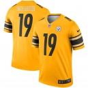 JuJu Smith-Schuster Maillot Nike Inverted Legend des Steelers de Pittsburgh - Or