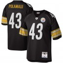 Maillot Troy Polamalu Steelers Mitchell & Ness Legacy Steelers de Pittsburgh - Noir