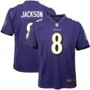 Maillot de match violet pourpre Nike Lamar Jackson Baltimore pour Jeune