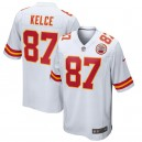 Maillot de match blanc Nike Travis Kelce Kansas City Chiefs