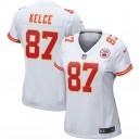 Maillot Blanc pour Joueur Nike Travis Kelce Kansas City Chiefs pour Femmes
