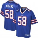 Maillot Royal Player NFL Pro Line Matt Milano pour Homme Buffalo Bills