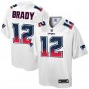 Tom Brady New England Patriots NFL Pro Line par Fanatics Branded Fade Fashion Maillot - Blanc