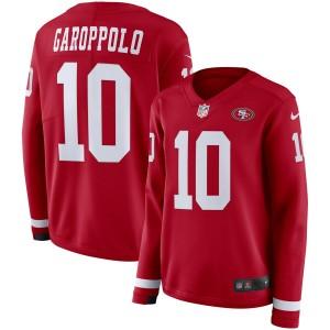 Jimmy Garoppolo San Francisco 49ers Nike Maillot à manches longues Pour Femme - Scarlet