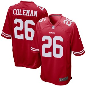 Tevin Coleman San Francisco 49ers Maillot Nike Jeu - Scarlet