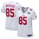 George Kittle San Francisco 49ers Nike Women's Super Bowl LIV Bound Jeu Event Maillot - Blanc