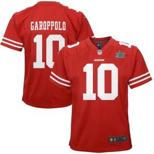 Jimmy Garoppolo San Francisco 49ers Nike Enfants Super Bowl LIV Bound Jeu Maillot - Scarlet