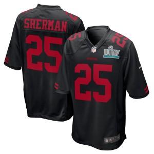 Richard Sherman San Francisco 49ers Nike Super Bowl LIV Bound Jeu Event Maillot - Noir