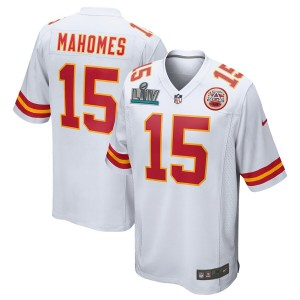 Patrick Mahomes Kansas City Chiefs Nike Super Bowl LIV Bound Jeu Maillot - Blanc