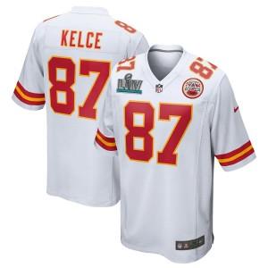 Travis Kelce Kansas City Chiefs Nike Super Bowl LIV Bound Jeu Maillot - Blanc