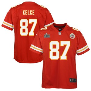 Travis Kelce Kansas City Chiefs Nike Enfants Super Bowl LIV Bound Jeu Maillot - Rouge