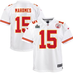 Patrick Mahomes Kansas City Chiefs Nike Enfants Super Bowl LIV Bound Jeu Maillot - Blanc