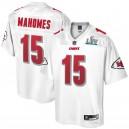 Kansas City Chiefs Patrick Mahomes Maillot NFL Pro Line Blanc Super Bowl LIV Champions pour homme