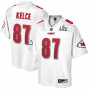 Kansas City Chiefs Travis Kelce NFL Pro Line Blanc Super Bowl LIV Champions Maillot