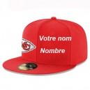 Kansas City Chiefs Nouvelle ère Rouge Personnalisé 59FIFTY Chapeau