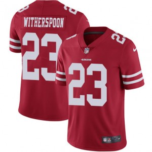 Limited Hommes San Francisco 49ers Ahkello Witherspoon Maillot Domicile Rouge