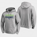 Hommes Seattle Seahawks Iconic Fade Out Pullover Hoodie - Cendres