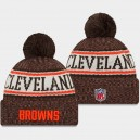 New Era Cleveland Browns Brown 2018 Sideline temps froid Sport Bonnet hommes