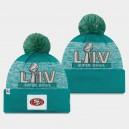 New Era San Francisco Men Aqua Super Bowl LIV Pom Bonnet