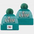 New Era Kansas City Chiefs Men Aqua Super Bowl LIV Pom Bonnet